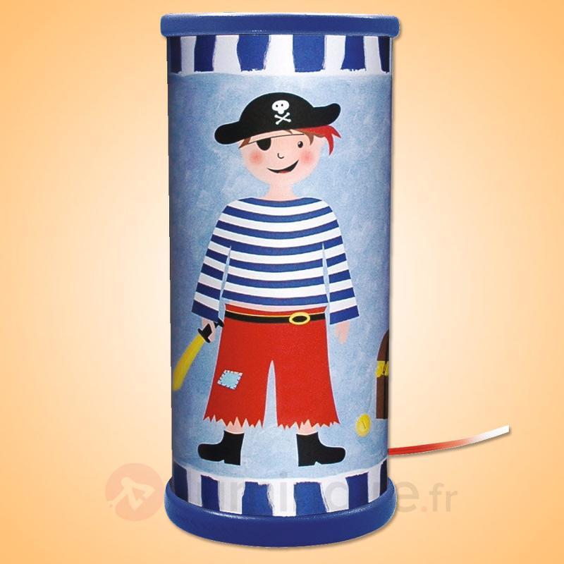 Lampe à poser LED Pirate bleue - Chambre d'enfant