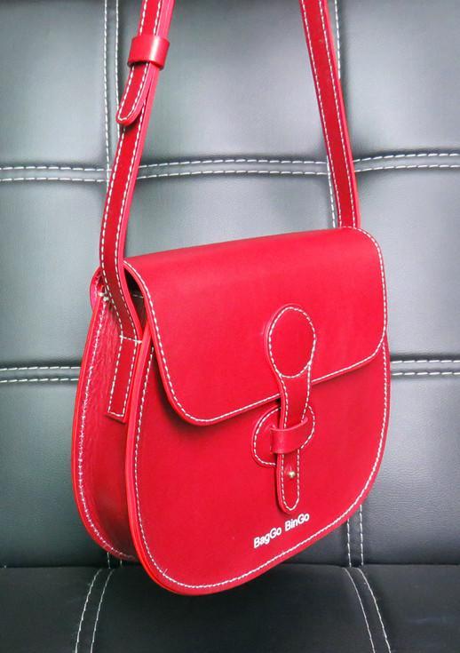 Burgundy Crossbody Bag Baggo Bingo Sacoche Custom Leather Chic Purse