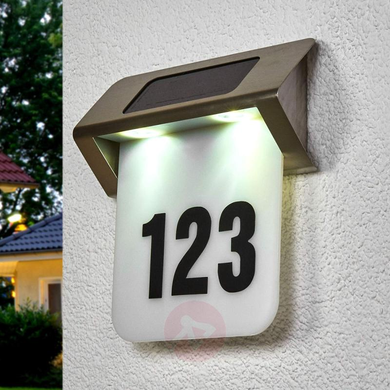 Nelson solar LED house number light - outdoor-led-lights