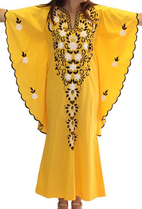 Vintage Maxi Kaftan Dress - Made To Measure - Embroidered Caftan | Custom Made | MOQ - 1