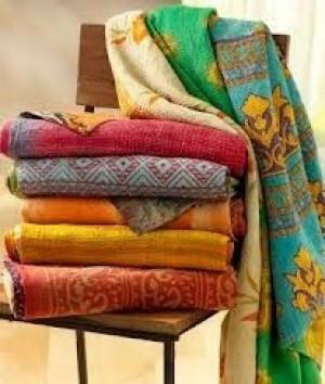 Reversible Kantha Blanket -