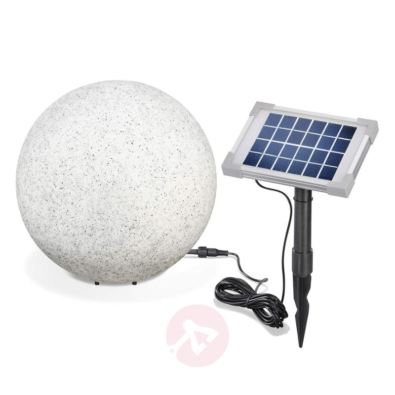 Mega Stone 30 - modern spherical LED solar lamp - outdoor-led-lights