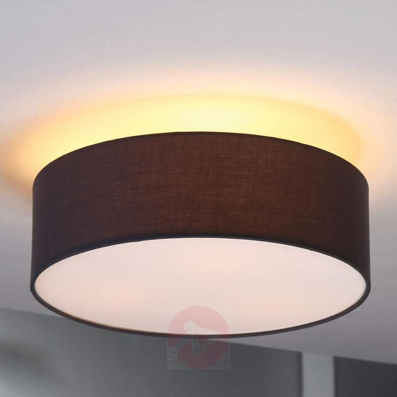 Grey fabric ceiling light Sebatin - Ceiling Lights