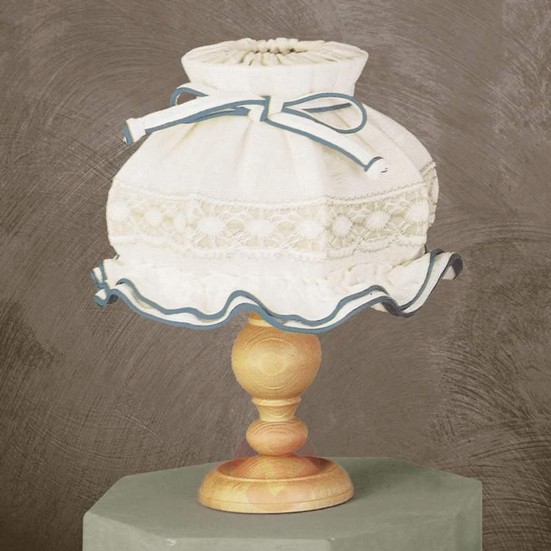 Elsa Peasant Table Light Embroidered Shade - Table Lamps
