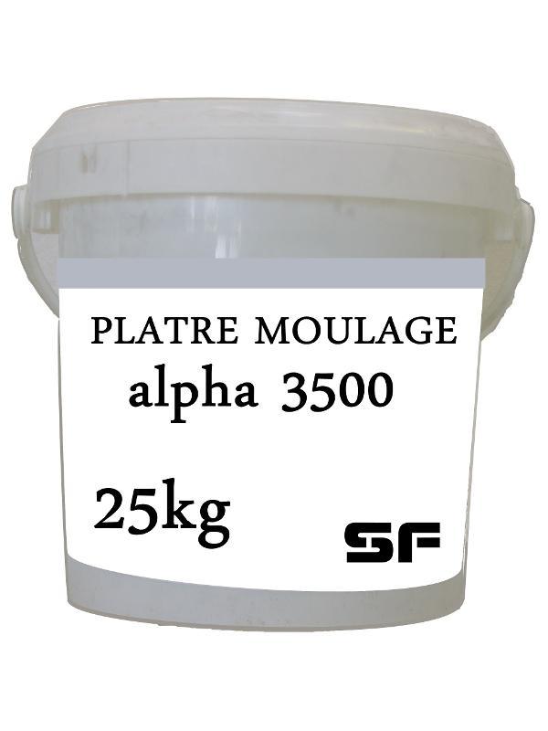 Platre de moulage - PLATRE ALPHA 3500 EN SAC 25KG