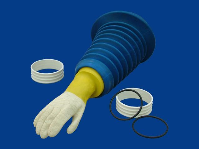 Blue Butadyl Accordion Sleeve - Butadyl Drybox Isolator Sleeve - SKU: [9024/12BTL]