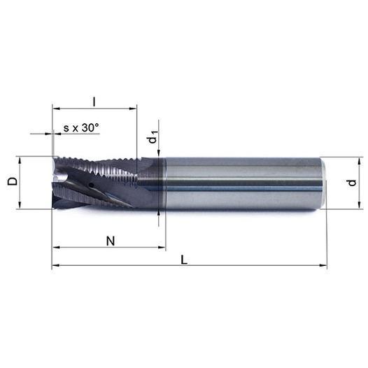 Vollhartmetallfräser VHM 348W-04 TS35 - null