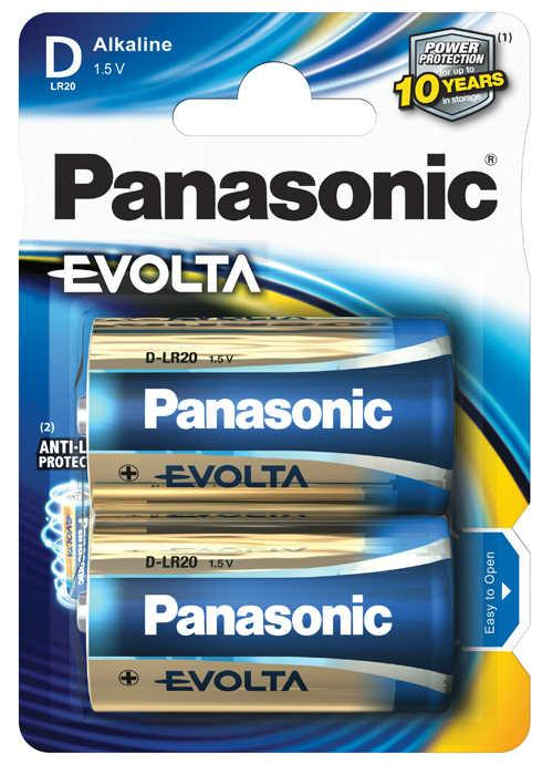 Batterie torcia Evolta 2 pz - LR20EGE/2BP | Blister da 2 pile D Panasonic