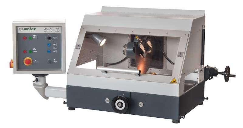 Abrasive Cutter TYPE WetCut 55 - Abrasive cutter in rugged design for metallographie and production purposes
