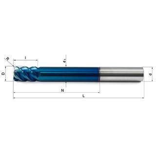 Vollhartmetallfräser VHM 418-02 R05 HX63 - null