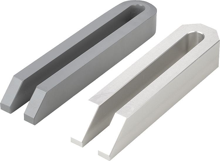 Bride ouverte acier et aluminium DIN 6315 - Bride étagée