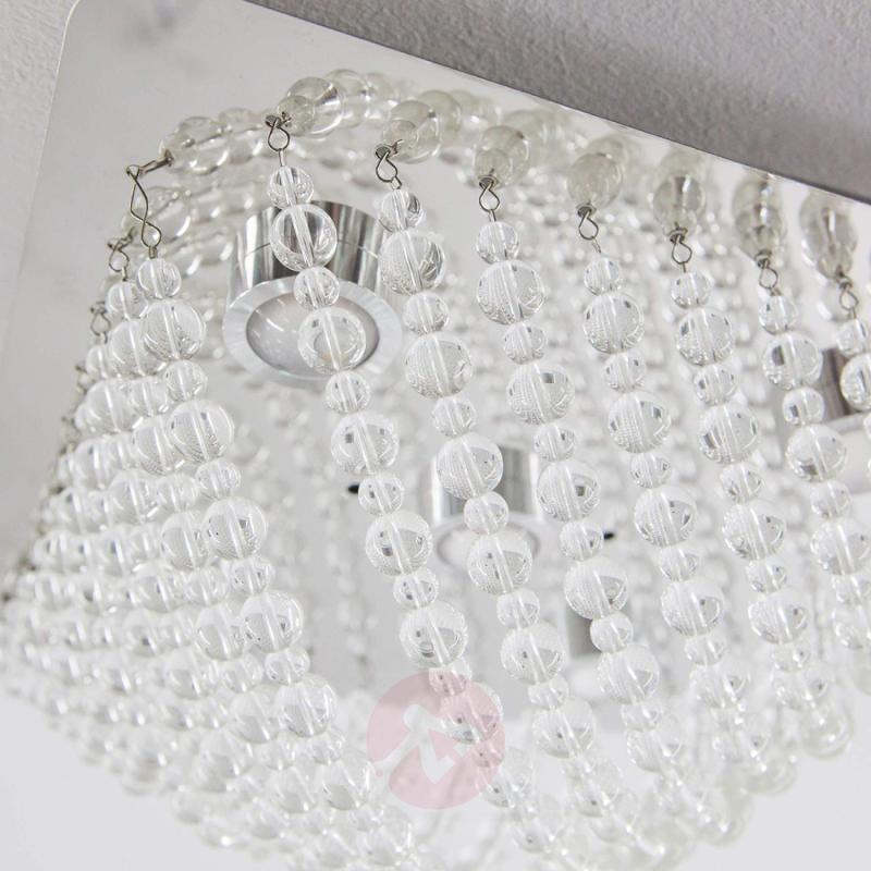 Sparkling crystal glass ceiling light Iva with LED - indoor-lighting
