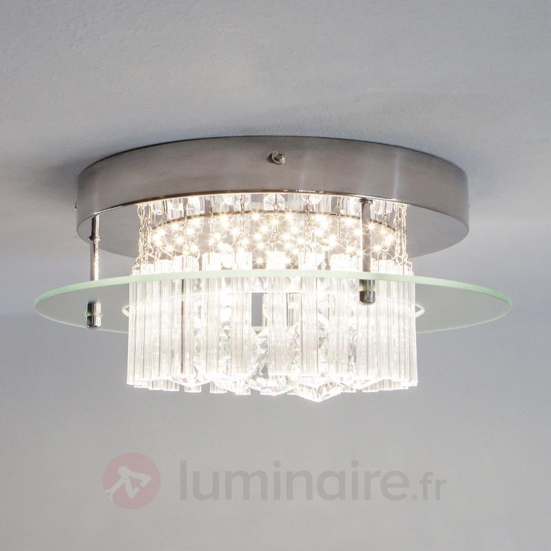 Plafonnier rond en cristal Enie - Plafonniers LED