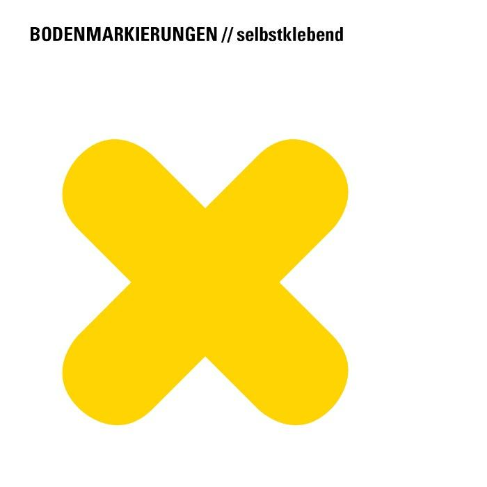 """Floor marking symbol """"X-shape"""", yellow - differend colours available"""