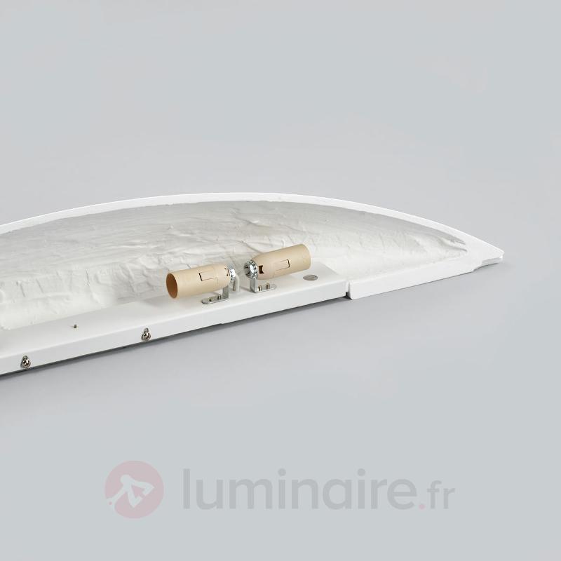 Grande applique en plâtre Tommi en blanc - Appliques en plâtre