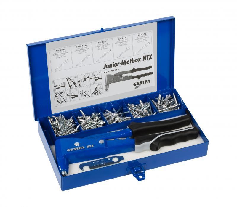 Junior Nietbox (Pinces à main pour pose de rivets aveugles) - Kit de rivetage
