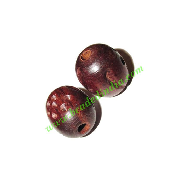 Rosewood Beads, Handcrafted designs, size 15x18mm, weight ap - Rosewood Beads, Handcrafted designs, size 15x18mm, weight approx 2.58 grams