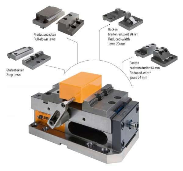 Version T-REX 125 MECHANISCH - Sicheres und schnelles Spannen von Rohteilen, Brenn und Sägeschnitten
