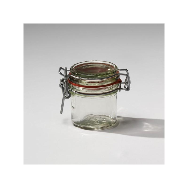 12 bocaux en verre mod le ermetico 135 ml type fido avec joints inclus bocal ermetico mcm. Black Bedroom Furniture Sets. Home Design Ideas