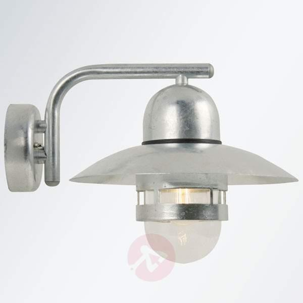 Efficient outdoor wall lamp Nibe zinc-plated - Outdoor Wall Lights