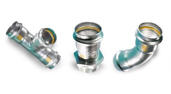 SANHA Системы трубопроводов для любых целей NiroSan® Газ - фитинг из нержавеющей стали Газ, AISI 316, HNBR
