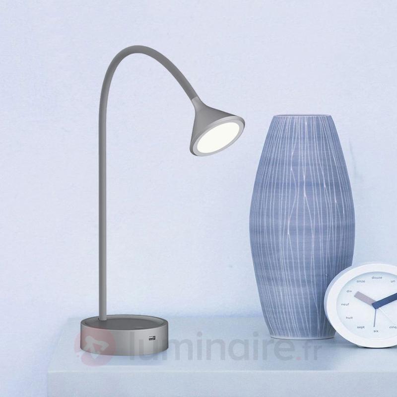 Lampe à poser LED réglable Ellister avec port USB - Lampes de bureau LED