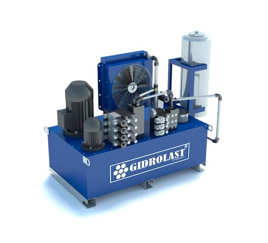 Hydraulic power unit and lubrication station - Compact, security and serviceability