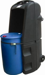 Bac de rétention PEHD mobile - stockage 1 fût - 2... - BRPN 1FM Bacs de rétention acier et plastique