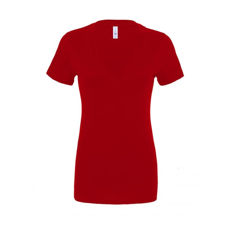 Tee-shirt Jersey col V femme - Manches courtes