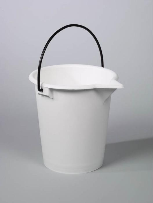 Cubos para laboratorio - Cubo de plástico, PE, blanco, 10 l, 15 l