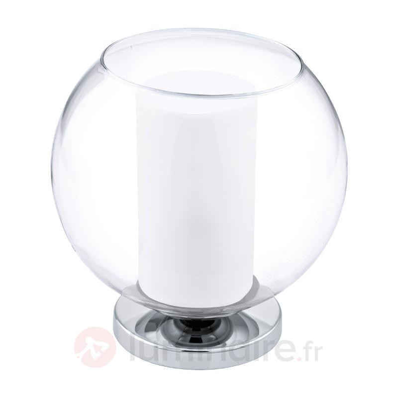 Lampe à poser Bolsano avec abat-jour en verre - Lampes de chevet