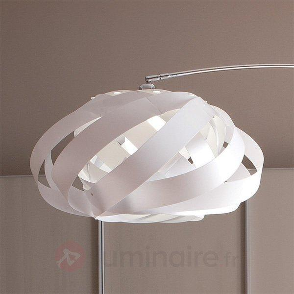 Lampadaire arqué Plaza avec diffuseur nid blanc - Lampadaires design