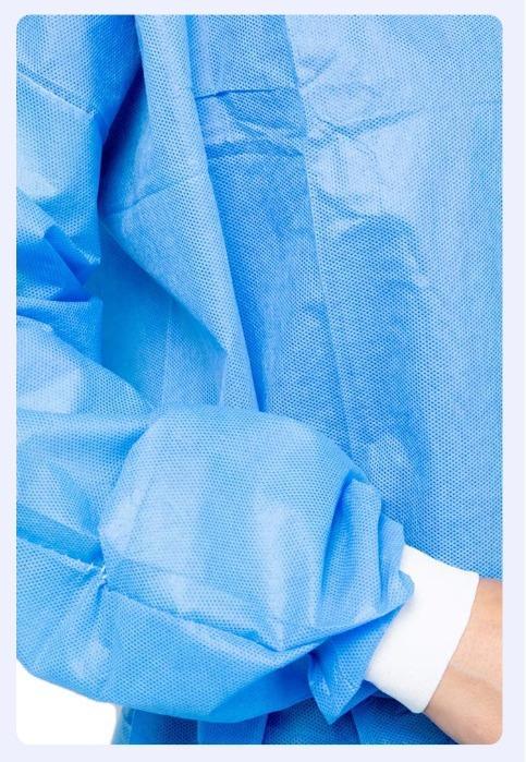 Μίας χρήσης ιατρικές εσθήτες υφασμάτων sms - Φόρεμα ιατρικής χειρουργικής μίας χρήσης Υλικό μη υφασμένα SMS