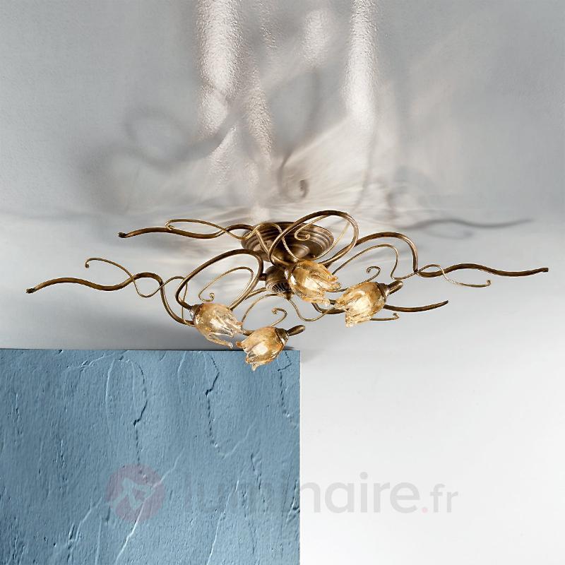 Plafonnier noble 4 lumières MONIQUE - Plafonniers style florentin
