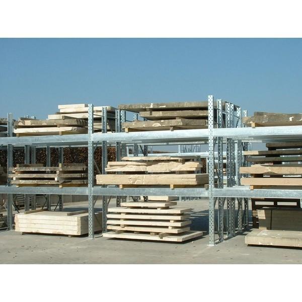 Palettier et rack de stockage - Rack stockage : Rayonnage galvanisé à palette pour extérieur