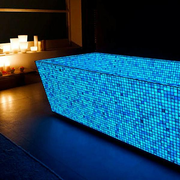 Photoluminescent Mosaic - Photoluminescent mosaic, available in yellow-green and ocean blue