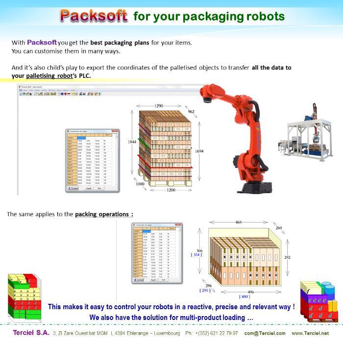 Packsoft pilots - Packsoft pilots your loading and palletizing robots.