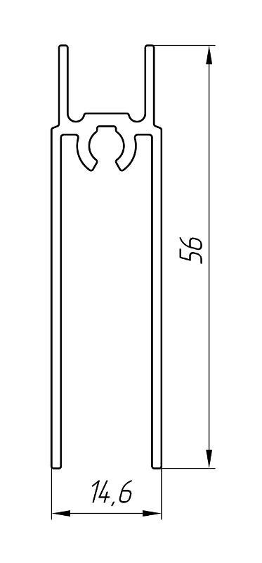 Aluminum Profile For Wardrobes Ат-2899 - Aluminum profile for wardrobes
