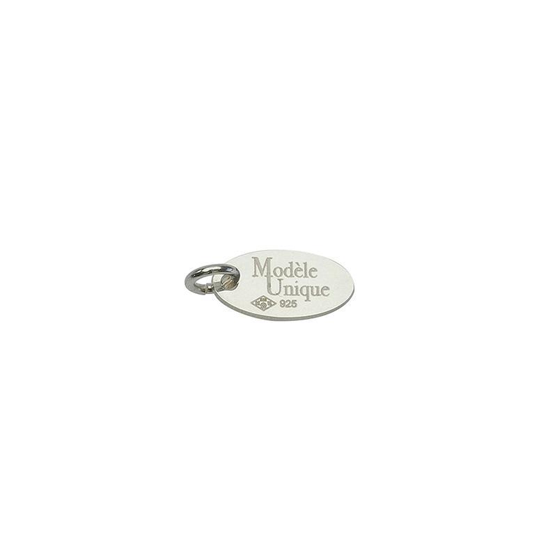 Marque ovale en argent pour personnaliser vos bijoux