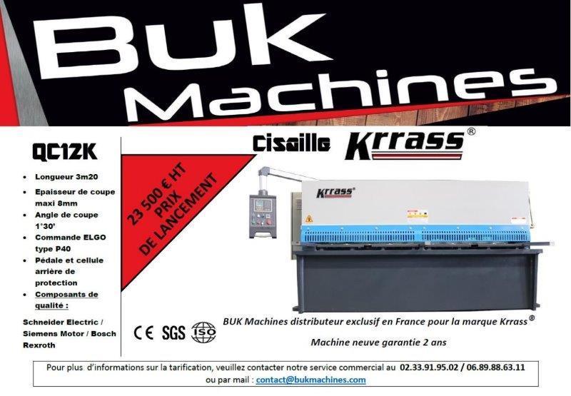 Cisaille KRRASS QC12K - Machines Neuves Prix de lancement