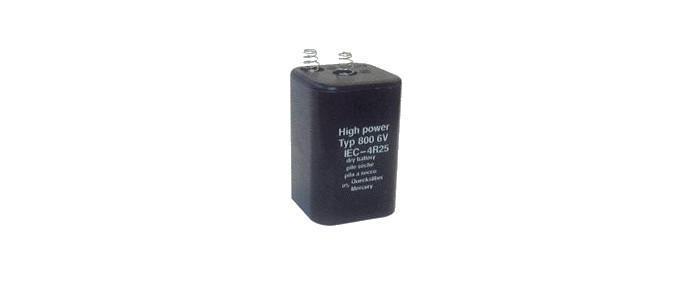Piles et accus - Pile sèche type 800 - 6V - 7-9 Ah - null