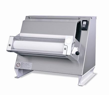 Stendipizza/Dilaminatrice Professionale da Banco  - - Per Pizza Tonda ø 400 mm - Lunghezza Rullo 400 mm - Potenza 370 W - Dimensioni