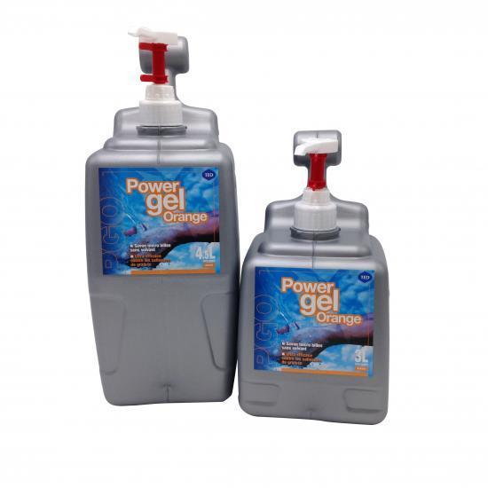 Savon microbilles végétales power gel orange bidon 3... - Hygiène et entretien