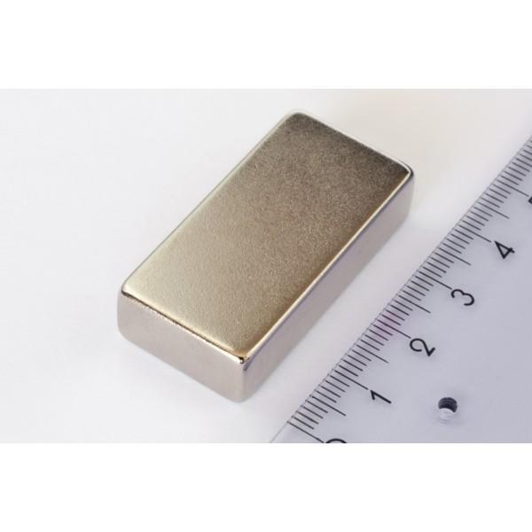 Block magnet, Neodymium, 40x20x10mm, N42, Ni-Cu-Ni,... - null