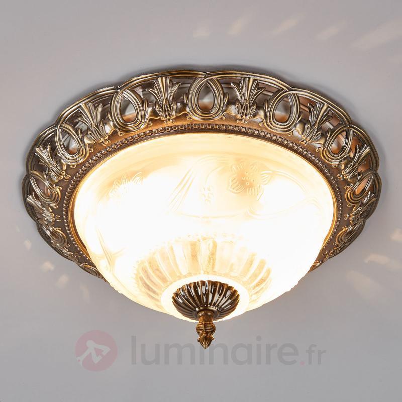 Plafonnier TERESA avec bord décoratif - Plafonniers classiques, antiques