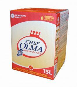 Margarines de cuisson et en huiles pour friture - Chef Olma - Formats disponibles : 1kg / BiB 15L / 25L / 1000L