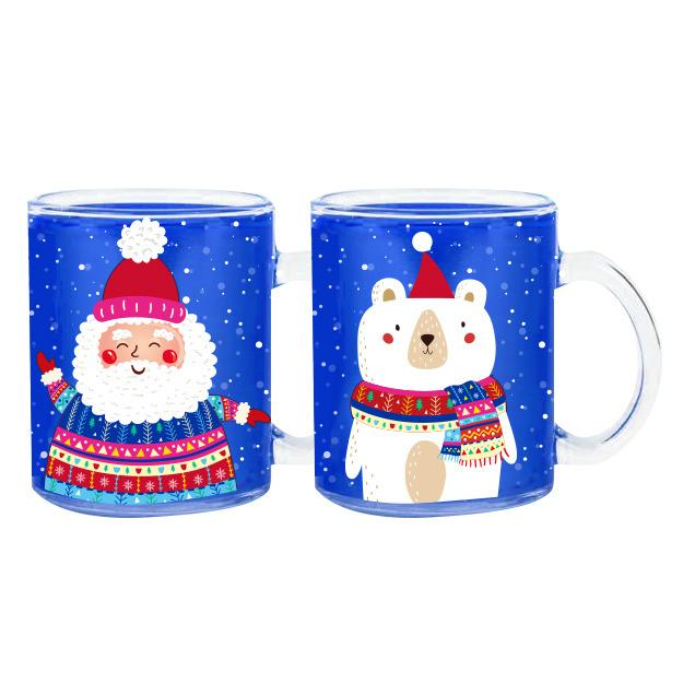 MUGS DE NOEL E VERRE 11 OZ 2 ASS - mugs