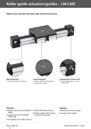 LMZ linear unit - Roller guide linear actuator