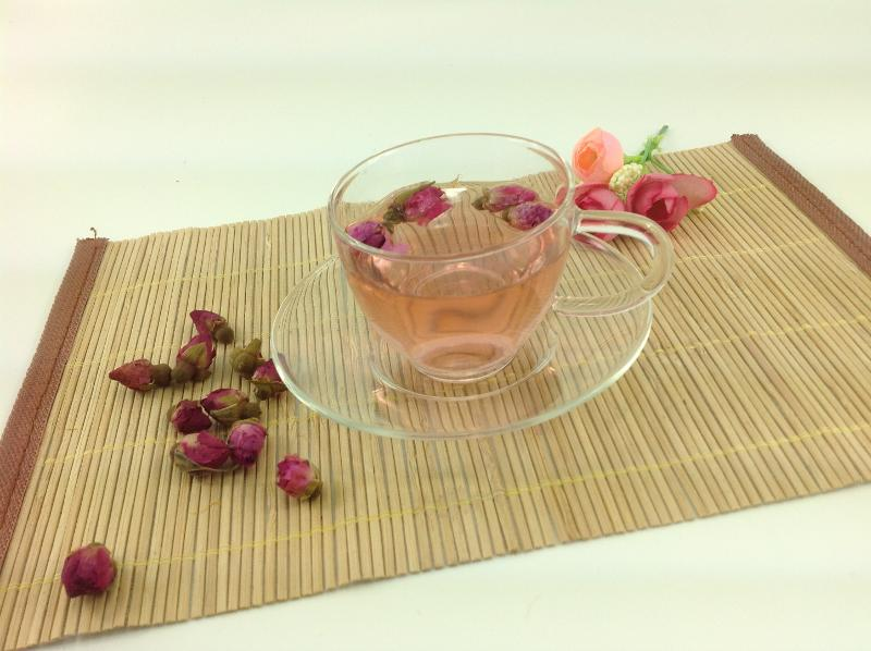GLASS TEACUP WITH GLASS SAUCER  - 150ML