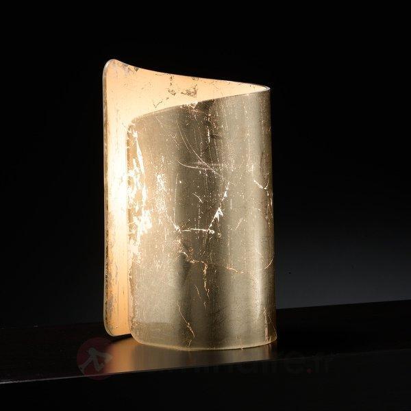 Lampe à poser poétique Papiro dorée - Lampes de chevet